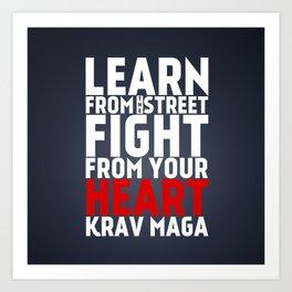 Learn from the Street Krav Maga Art Print