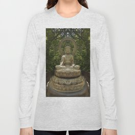 A Buddha in the Japanese Tea Garden, Golden Gate Park, San Francisco, California Long Sleeve T-shirt