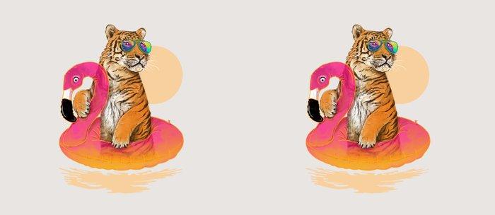 Chillin (Flamingo Tiger) Kaffeebecher