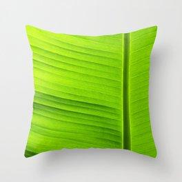 banana tree leaf Throw Pillow
