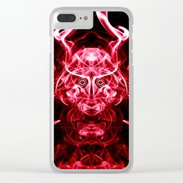 The Red Warrior Awakens Clear iPhone Case