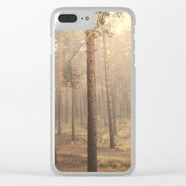 """""""Rectilineum"""". Secret places. Foggy dreams. Retro Clear iPhone Case"""