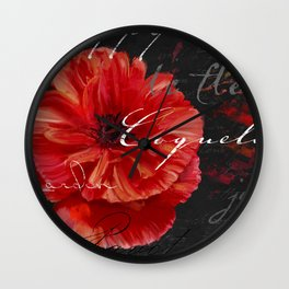 Le Pavot II Wall Clock
