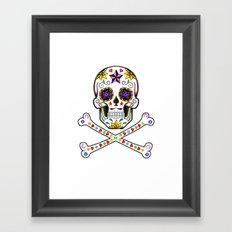 Sugar Skull & Cross Bones Framed Art Print