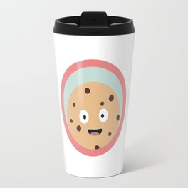 chocolate cookie with red circle Travel Mug