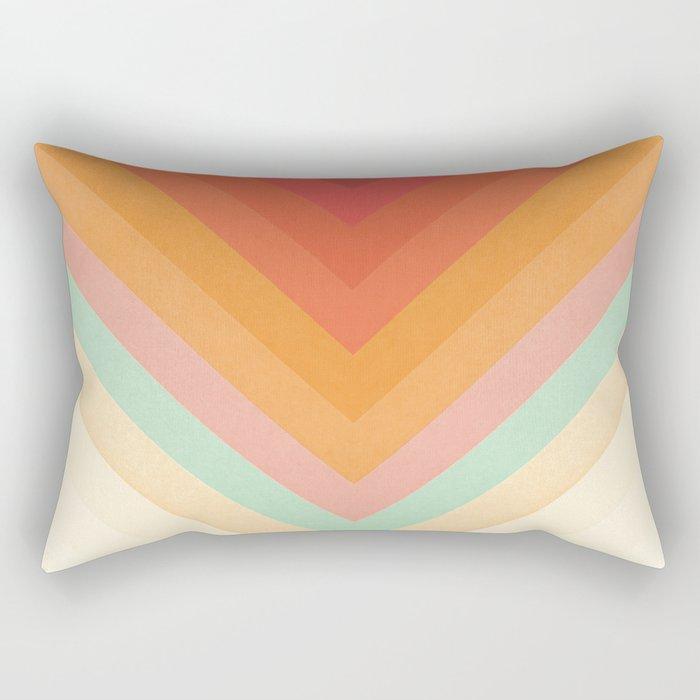 Rainbow Chevrons Rectangular Pillow