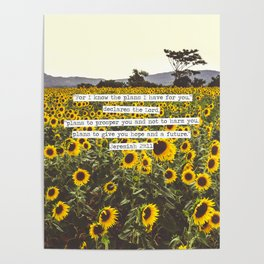 Jeremiah Sunflowers Poster