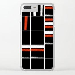 Zen tartan Clear iPhone Case