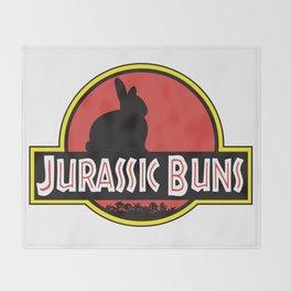 JURASSIC BUNS Throw Blanket