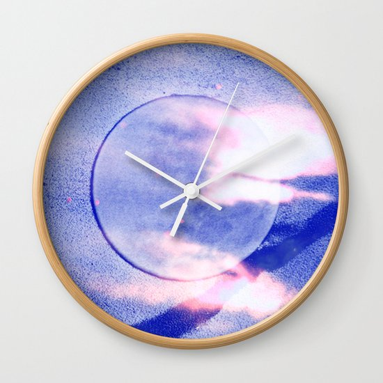 """""""Night Time, My Time"""" by Cap Blackard Wall Clock"""