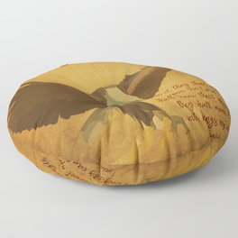 With Wings as Eagles Bible Verse Floor Pillow