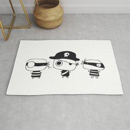 Three Pirates, Black Rug