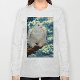 Snowy Owl against Aqua Sky Country Decor A147 Long Sleeve T-shirt