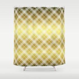Royal Gold Tartan Plaid Check Shower Curtain