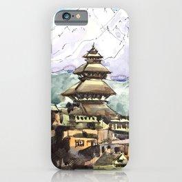 Nepal Temple Bhaktapur Kathmandu iPhone Case