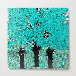 Trees Green Three Metal Print