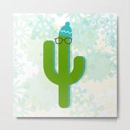 Winter Cactus Metal Print