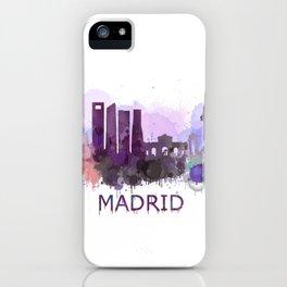 Madrid City Skyline HQ iPhone Case