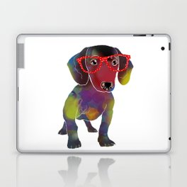 hipster dachshund Laptop & iPad Skin