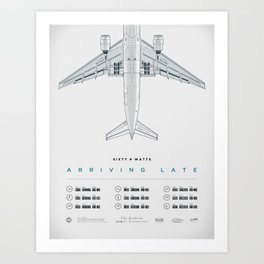 Arriving Late - Tour Poster Art Print