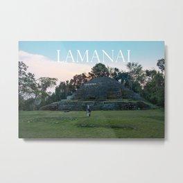 LAMANAI: Jaguar Temple Metal Print