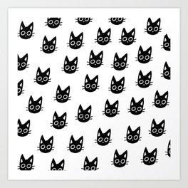 Black Kittens Art Print