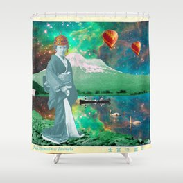 THE QUEEN OF MT. FUJI II Shower Curtain