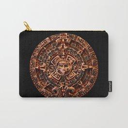 Ancient Mayan Sun Calendar Carry-All Pouch