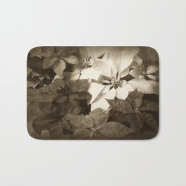 Mixed color Poinsettias 1 Antiqued Bath Mat