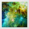 blue green space nebula by haroulita