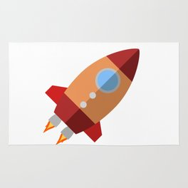 Rocket Ship Rug
