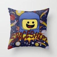 spaceship Throw Pillows featuring Spaceship!  by Brieana