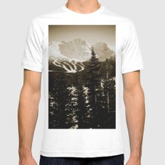 whistler, BC Mens Fitted Tee MEDIUM White