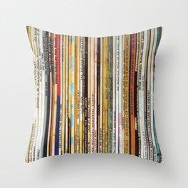 vinyl records Throw Pillow