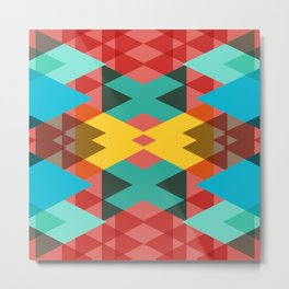 Geometric Crazy 3D Metal Print