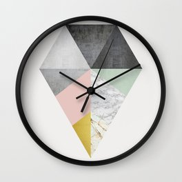 Fashion marble and golden Wall Clock