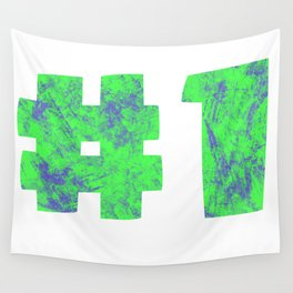 NUMBER 1 (GREEN) Wall Tapestry