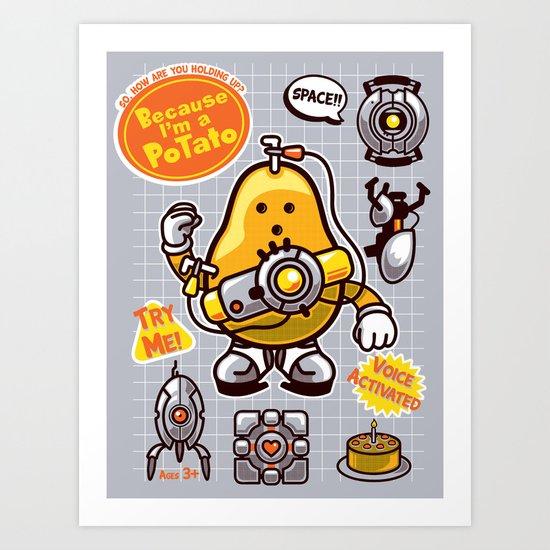 Mrs. Potato GLADos Art Print