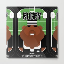 Rugby Black - Ruck Scrumpacker - Hayes version Metal Print