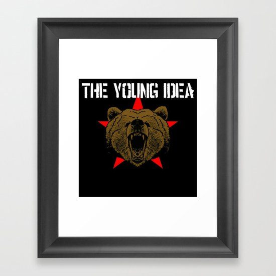 The Young Idea - Grizzly Logo II Framed Art Print