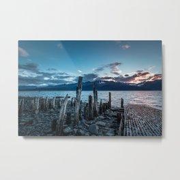 Alaskan Mountain Dawn VI Metal Print