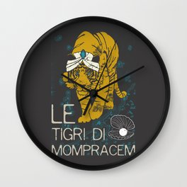 Books Collection: Sandokan, The Tigers of Mompracem Wall Clock