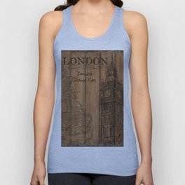 Vintage Travel Poster London 2 Unisex Tank Top