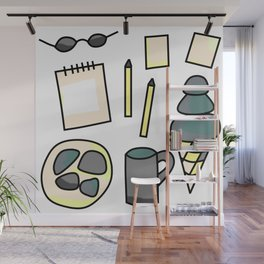 Stress Free - Doodle Zine Page Wall Mural