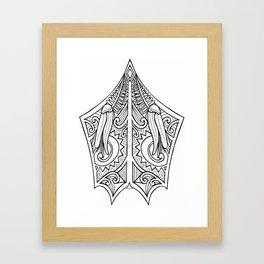 Huia Maori Art Kowhai Flower Framed Art Print
