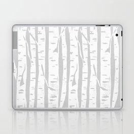 Woodcut Birches Grey Laptop & iPad Skin