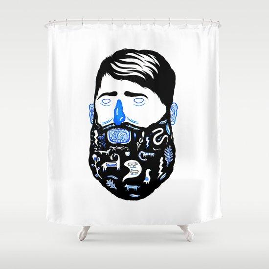 Animal Beard Shower Curtain