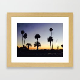 Palm Trees at Sunset Framed Art Print