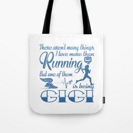 Running Gigi Tote Bag