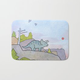Triceratops Bath Mat